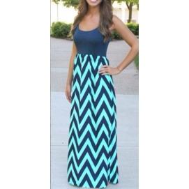 Vestido de Playa Largo Azul