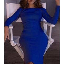 Vestido Cremallera Azul
