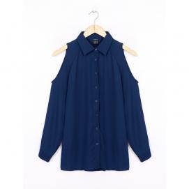 Blusa Hombros Descubiertos - Azul