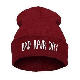Gorro Bad Hair Day - Granate