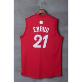 Camiseta Navidad 2016 Philadelphia 76ers Embiid