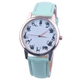 Reloj de Pulsera Gatos - Turquesa