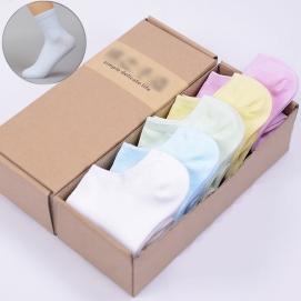 Pack 5 Pares de Calcetines altos para mujer (Colores pastel)
