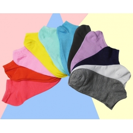 Pack 10 Pares de Calcetines tobilleros para mujer (Color a elegir)