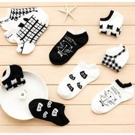 Pack 10 Pares de calcetines tobilleros para mujer (Gatos)