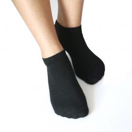 Pack 7 Pares de Calcetines tobilleros para mujer (Negro)