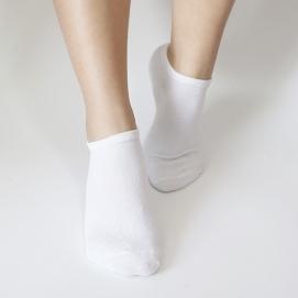 Pack 7 Pares de Calcetines tobilleros para mujer (Blanco)