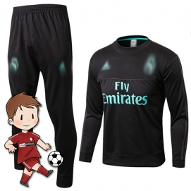 Chándal para Niños AD Real Madrid Negro 2017-2018