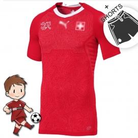 Suiza Mundial 1ª Equipación Niños 2018-2019
