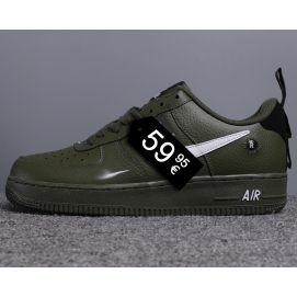 "Zapatillas NK Air Force 1 ""Off-White"" Verde Militar (Bajas)"