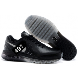 Zapatillas NK Air max 2014 Leather Negro y Gris