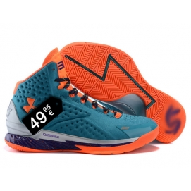 Zapatillas UA Curry One Turquesa y Naranja