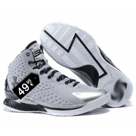 Zapatillas UA Curry One Gris y Negro