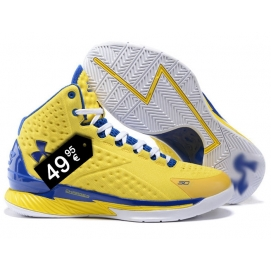 Zapatillas UA Curry One Azul y Amarillo