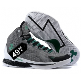 Zapatillas UA Curry One Gris (Logo Verde)