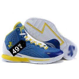 Zapatillas UA Curry One Azul, Amarillo y Blanco