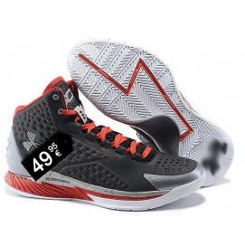 Zapatillas UA Curry One Gris y Rojo (Salpicada)