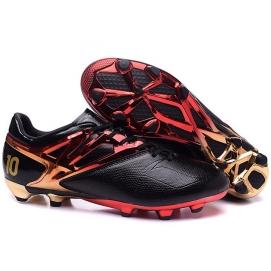 Botas AD Messi 15.1 FG Negro, Rojo y Dorado