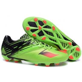 Botas AD Messi 15.1 FG Verde, Negro y Naranja