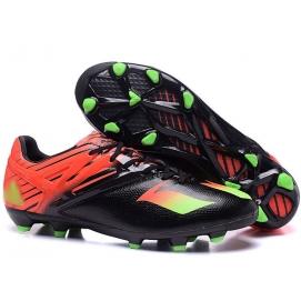 Botas AD Messi 15.1 FG Negro, Naranja y Verde