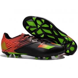 Botas AD Messi 15.3 FG Negro, Rojo y Verde