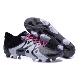 Zapatillas AD X15+ Primeknit FG Negro y Blanco