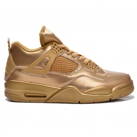 Zapatillas NK Air Jordan 4 Liquid Metal Gold