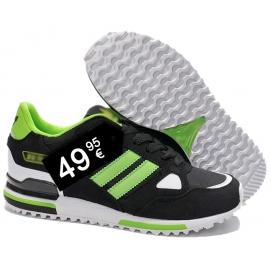 Zapatillas AD ZX 750 Negro y Verde