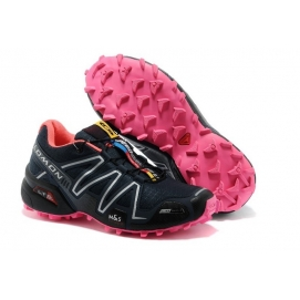 Zapatillas Salmon Speed Cross 3 Negro y Rosa