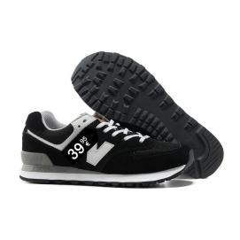 Zapatillas NB 574 Negro y Blanco