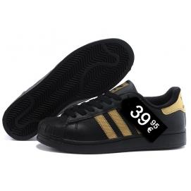 Zapatillas AD Superstar Negro y Dorado