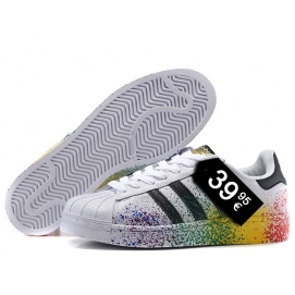 Zapatillas AD Superstar Blanco y Multicolor (Salpicada)