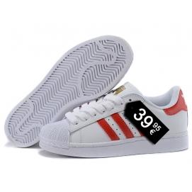 Zapatillas AD Superstar Blanco y Rojo