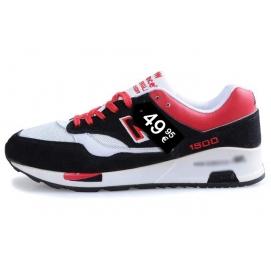 Zapatillas NB 1500 Negro, Rojo y Blanco
