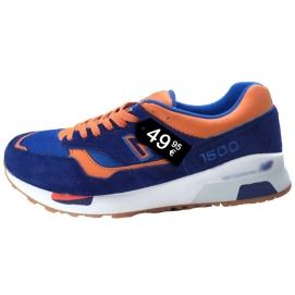 Zapatillas NB 1500 Azul y Naranja