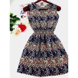Vestido Estampado Verano-Otoño Floral