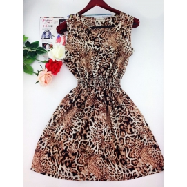 Vestido Estampado Verano-Otoño Leopardo
