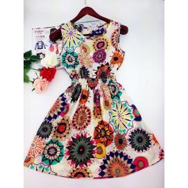 Vestido Estampado Verano-Otoño Bohemio