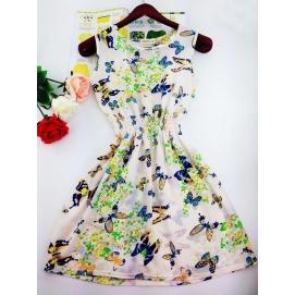 Vestido Estampado Verano-Otoño Mariposas