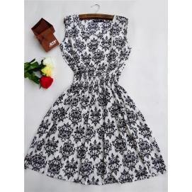Vestido Estampado Victoriano Verano-Otoño