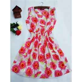 Vestido Estampado Verano-Otoño Girasoles