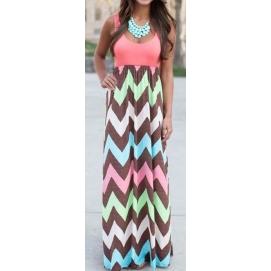 Vestido de Playa Largo Rosa