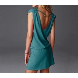 Vestido de Playa Verde Oscuro