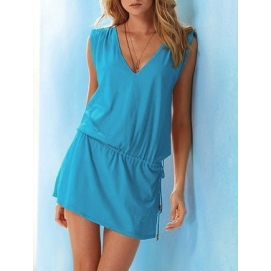 Vestido de Playa Celeste