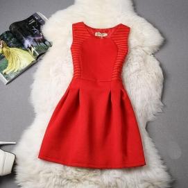 Vestido de Encaje Rojo