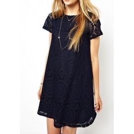Vestido de Encaje Amplio Negro
