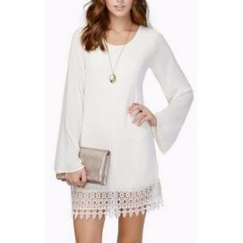 Vestido de Encaje Manga Larga Blanco