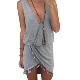 Vestido de Playa Gris