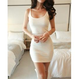 Vestido Casual Tirantes Blanco