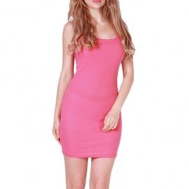Vestido Casual Tirantes Rosa